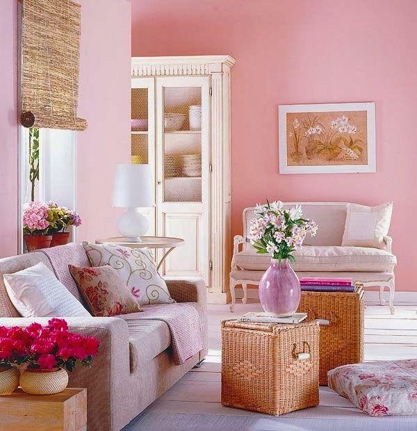 Salas De Color Rosa Ideas De Salas Con Estilo Interior Decorating Living Room Romantic Style Living Room Romantic Living Room