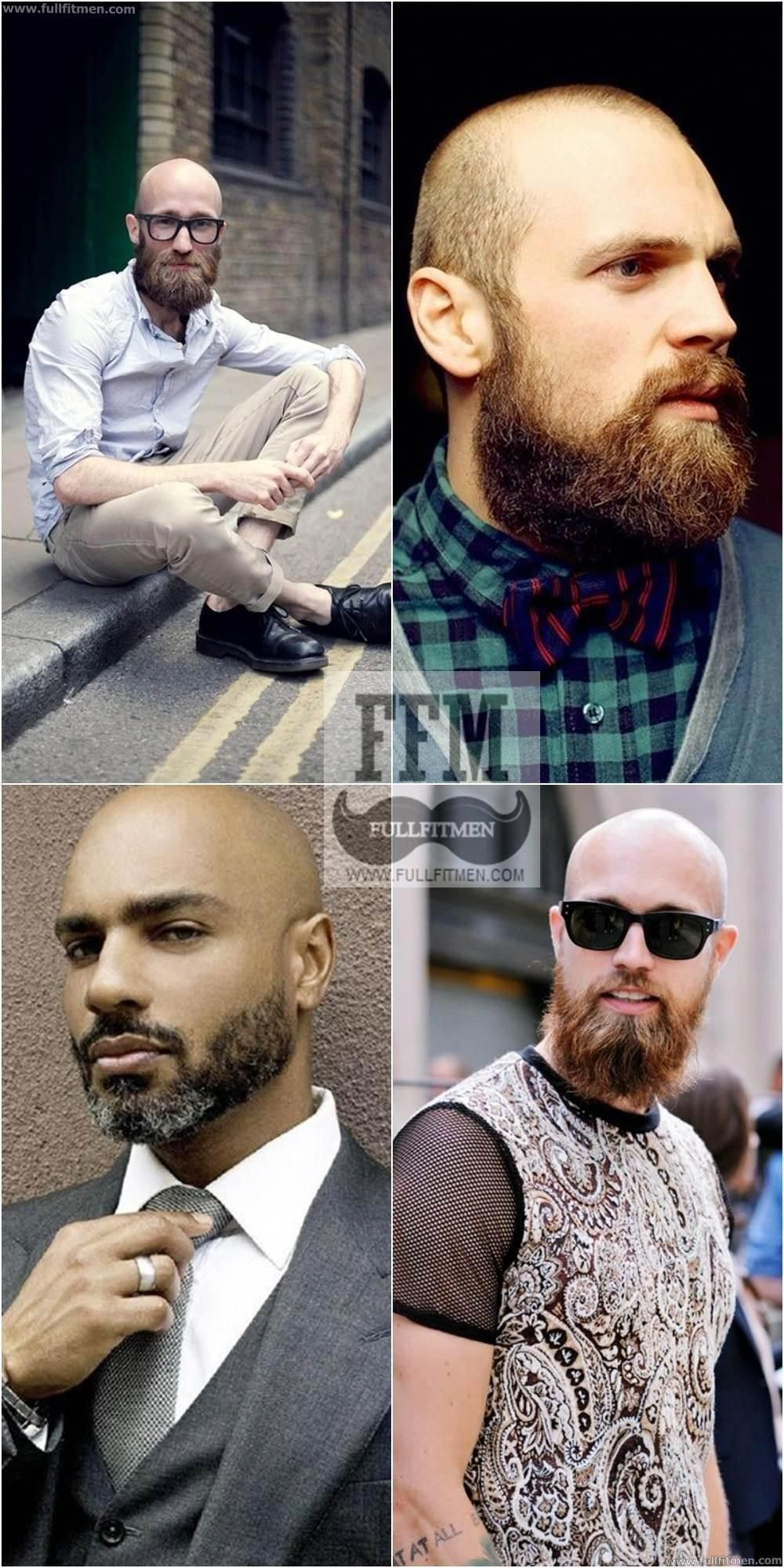 Have a look into some of the best bald with beard styles for men