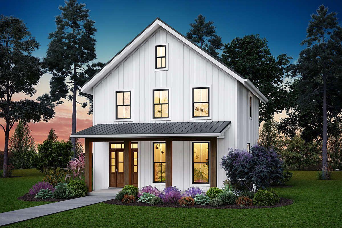House Plan 255900849 Modern Farmhouse Plan 1,394