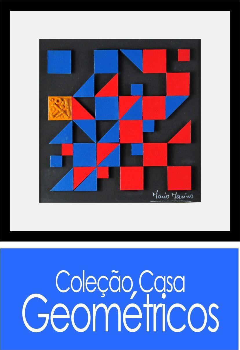 Obras iguais a esta com relevo + textura + cores + sustentabilidade + bom gosto, você vai encontrar dentro da Coleção Casa * Geométricos! Confira outras opções e tudo com frete grátis e em até 12X!