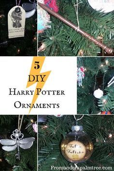 here are 5 diy harry potter themed ornaments to decorate your christmas tree with or give