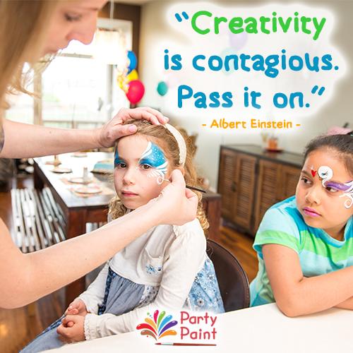 Each one, teach one!   #Creativity #PartyPaint #Imagination