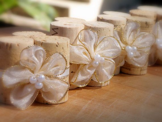 Wedding Escort Card Holders Table Setting Decor In Sheer Ivory Gold Set Of 4