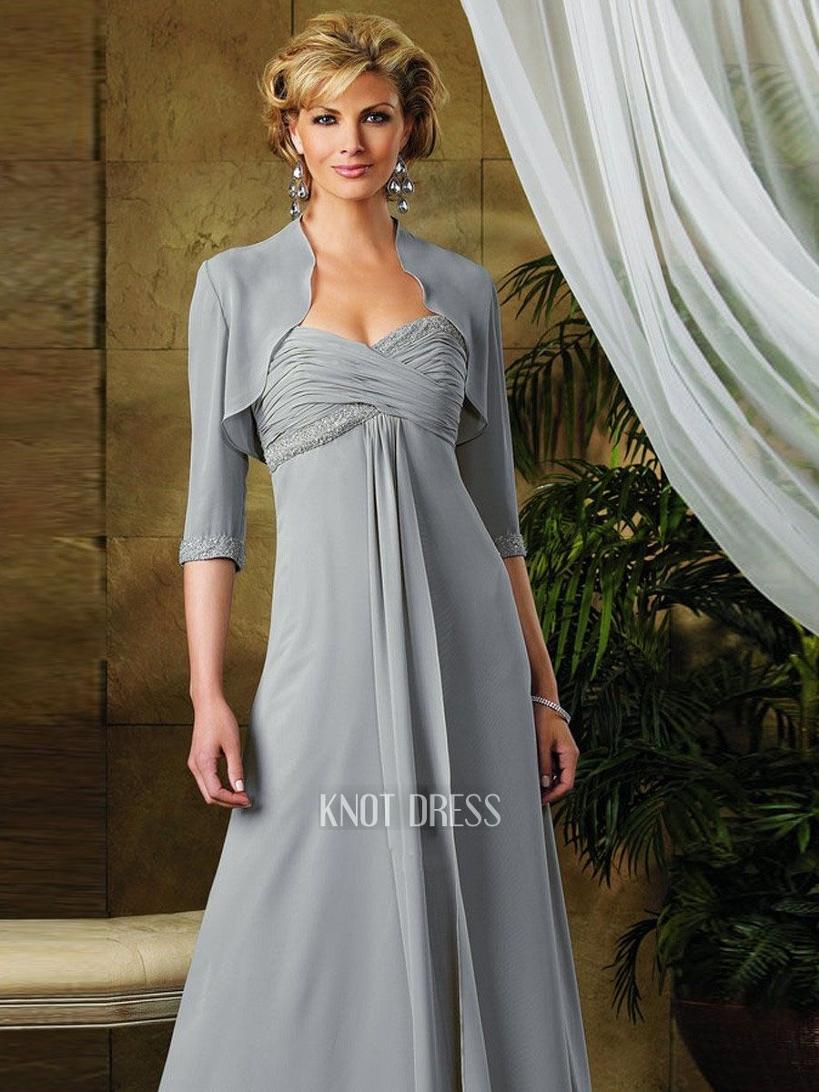 Wedding dresses for older ladies  mother of the bride navy Blue dresses with cap sleeves empire waist