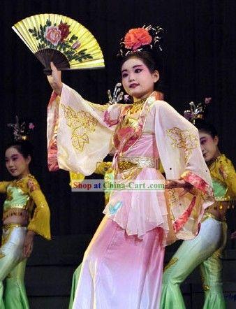 575e93b7e Chinese Fan Dance Costume for Children | Belly, Burlesque, Fan ...