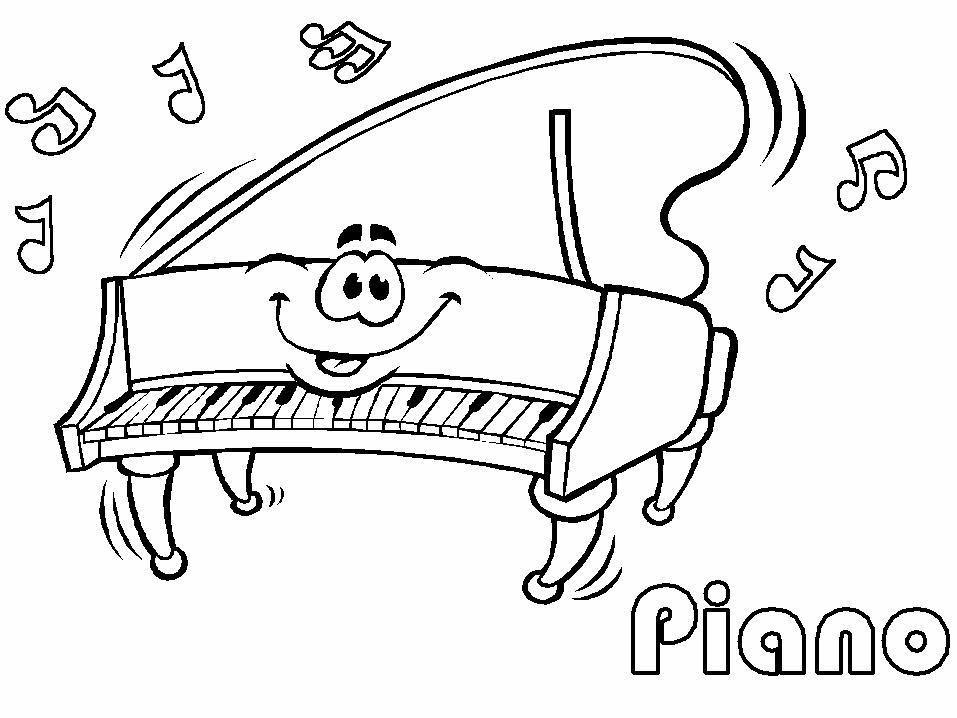 Disegno Pianoforte Da Colorare.Disegni Musica 2 Disegni Per Bambini Da Stampare E Colorare By