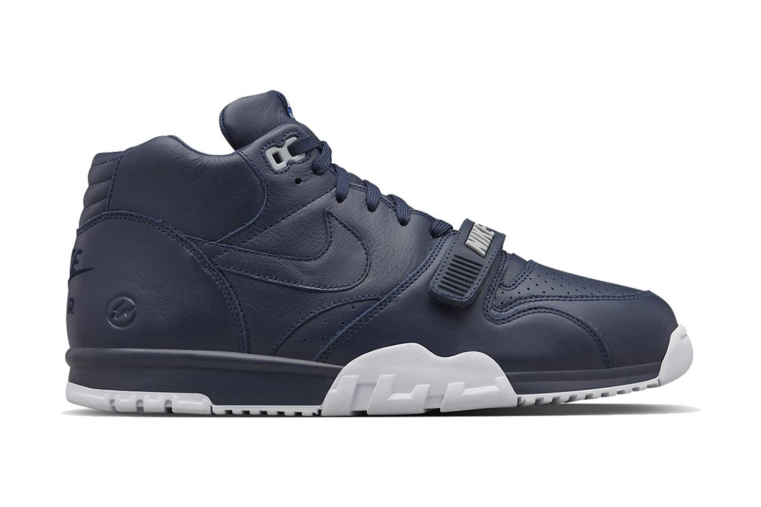 new style c516d cdaed A Closer Look at the fragment design x NikeLab Air Trainer 1 SP