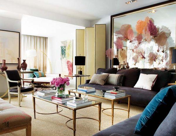 Moderne schwarze Lampen Schirme in Interior Design städtisch - moderne wohnzimmer stehlampe