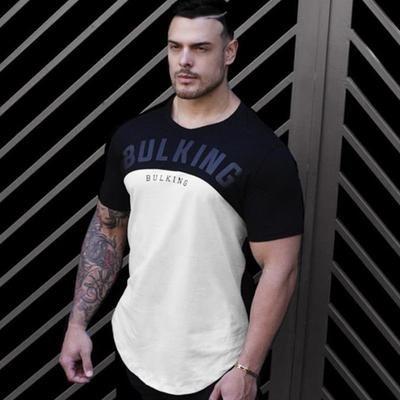 d200576d933 New Mens Summer Gyms Fitness Workout T-shirt Short sleeve Cotton Slim t  shirt Male