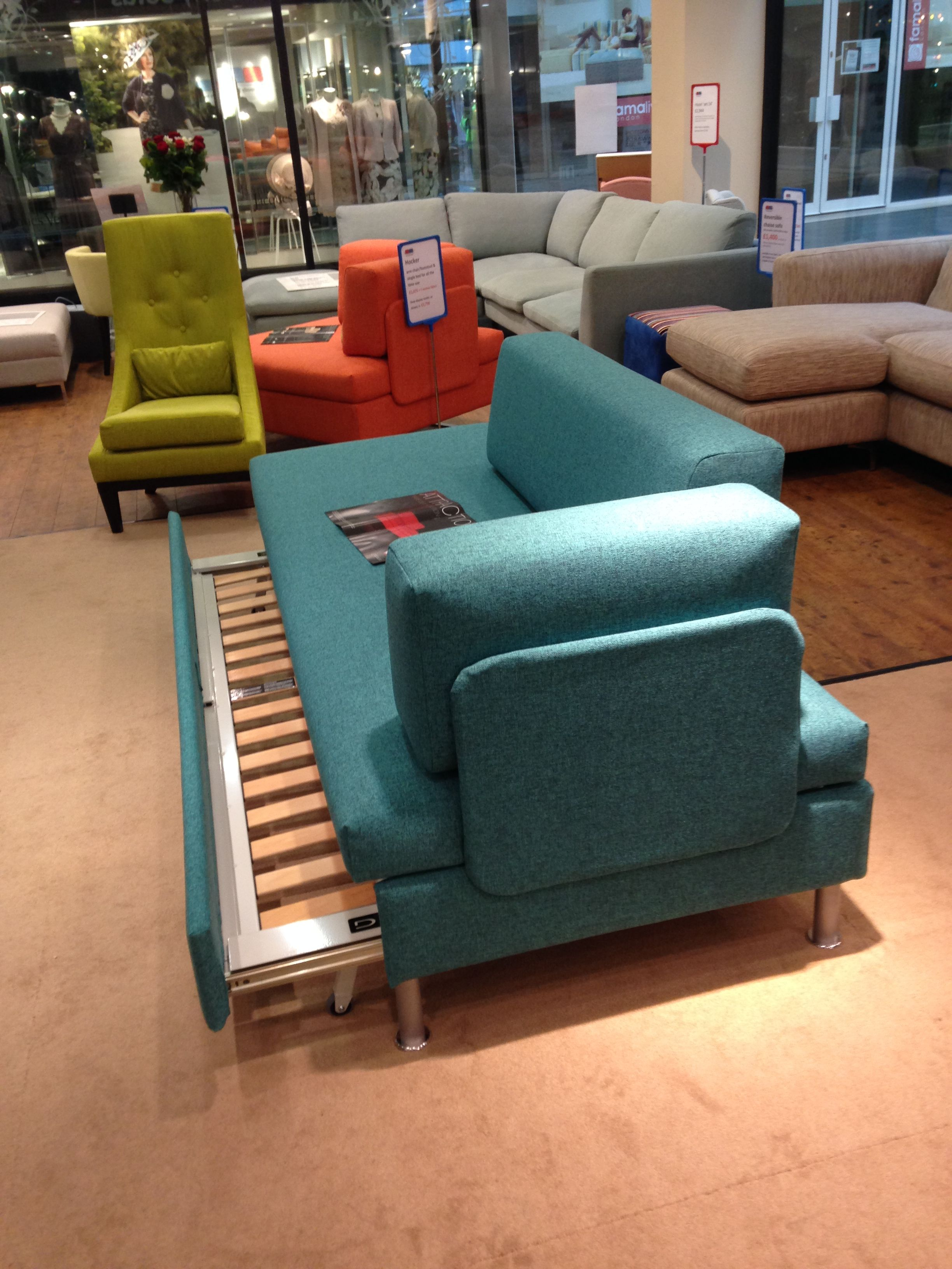 Swiss made luxury sofa bed. This is the double bed option