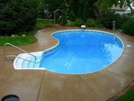 Kidney Bean Shape Pool Kidney Pool Wisconsin Kidney Shaped Pool