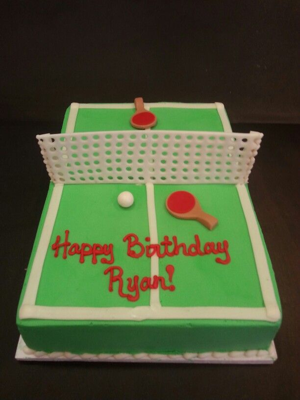 Outta The Oven Tennis Cake Kids Cake Cupcakes Decoration