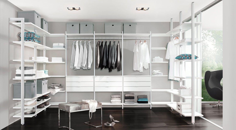 Elegant Begehbarer Kleiderschrank traumhafte Regalsysteme viel Platz f r Kleidung tolles Design Begehbaren Kleiderschrank hier online planen kaufen
