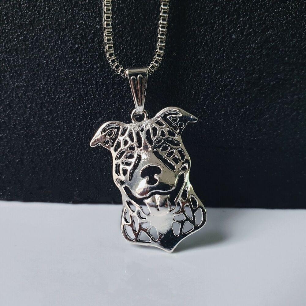 Halskette Mit Motiv Hund Silber Anhanger Kette Tieremotiv