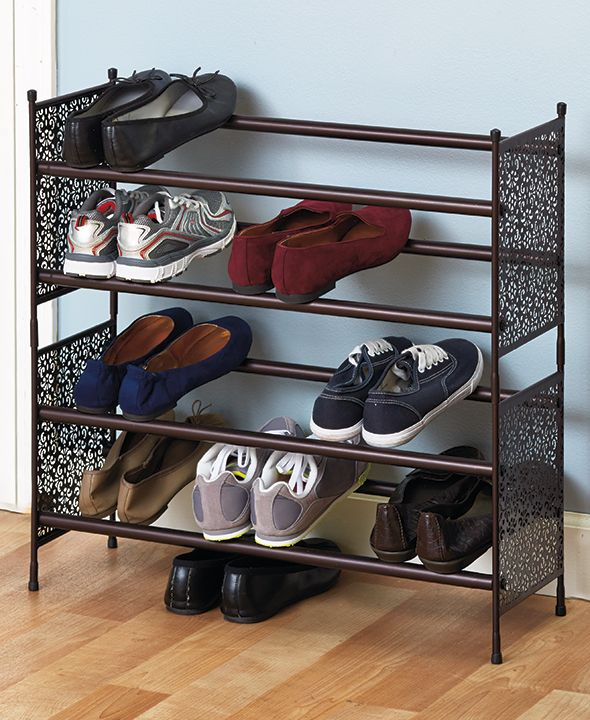 les 25 meilleures id es de la cat gorie tag re chaussures empilables sur pinterest. Black Bedroom Furniture Sets. Home Design Ideas