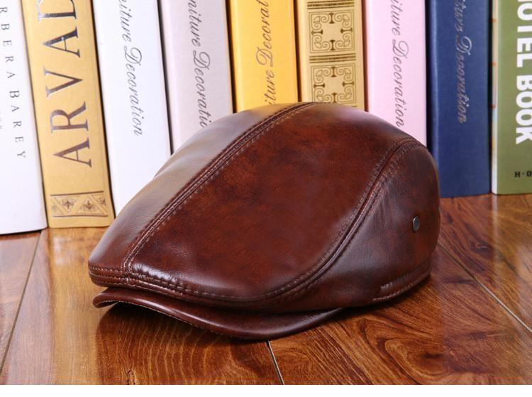 Genuine Leather Duckbill Cap  1ef20b276fe