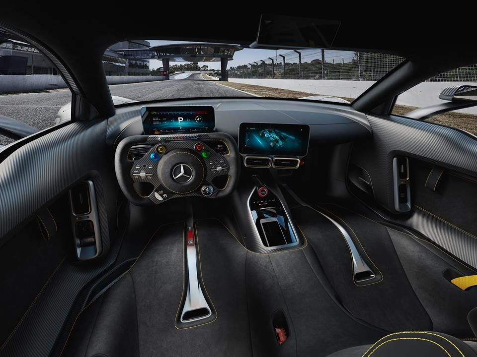 New Mercedes AMG Project One. Inside Cockpit