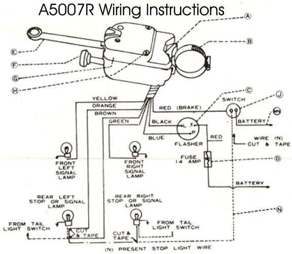 Wiring Diagram  Universal Turn Signal Wiring Diagram Brake