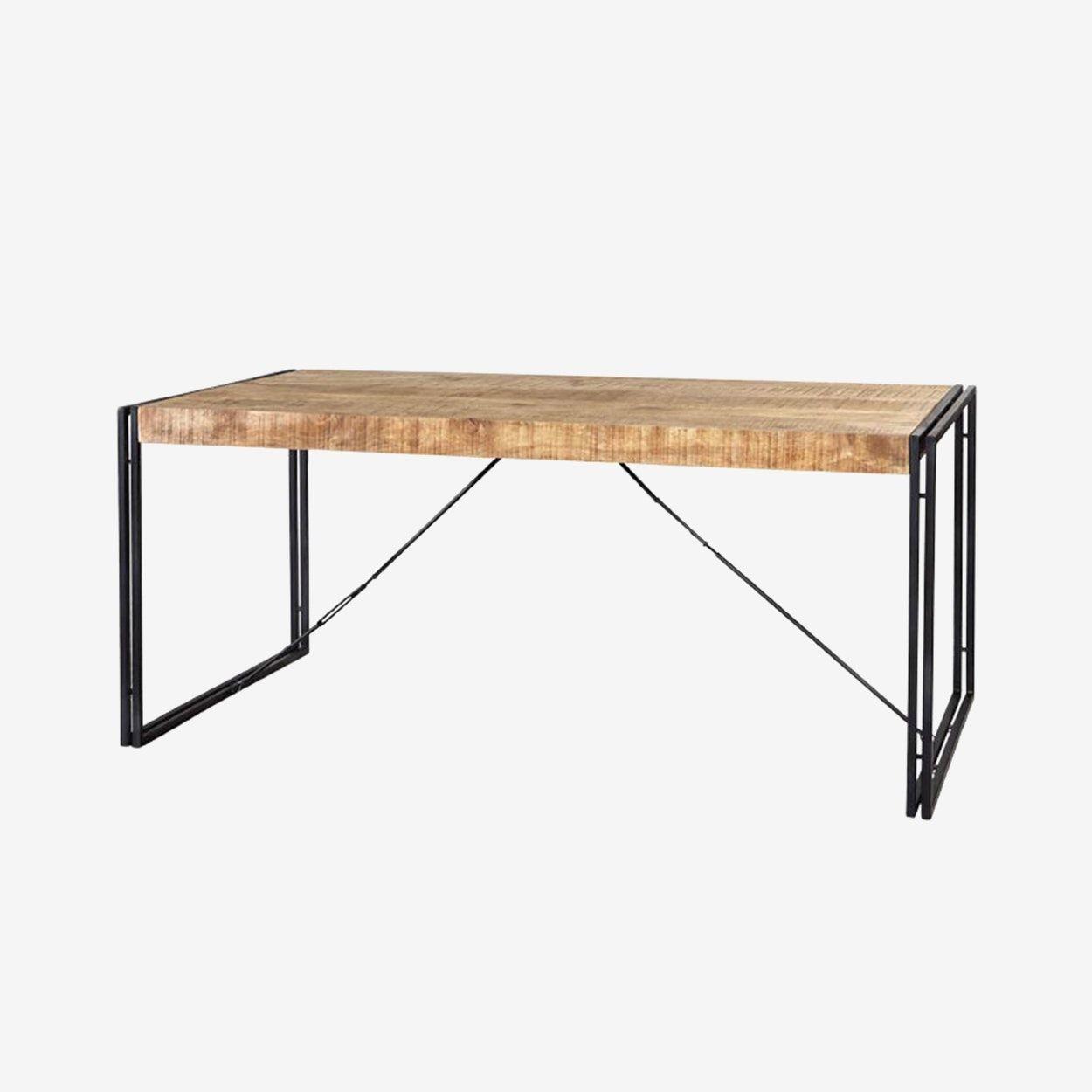 Mango Wood Metal Wood Dining Table Large Dining Table Wood
