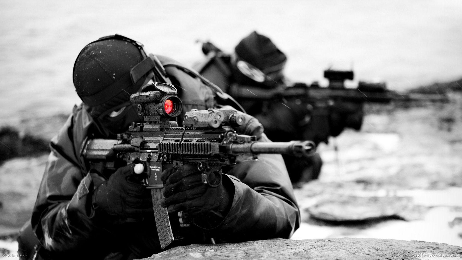 Heckler And Koch Hk416 Wallpaper Fond D Ecran Marine Photos Militaires Navy Seals