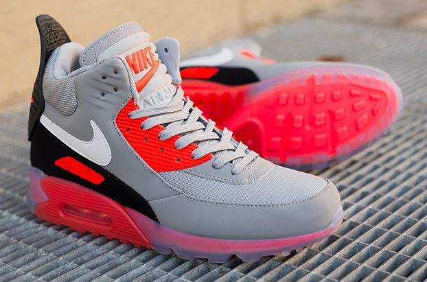 9caac6d51f62d9 The Nike Air Max 90 Sneakerboot Ice in the Wolf Grey and Infrared color  will be dropping on nike.com on November 28th.