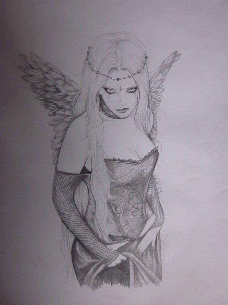 Dark Angel Angel Drawing Dark Angel Tattoo Dark Angel