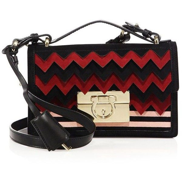 Salvatore Ferragamo Multicolor Suede Chevron Crossbody Bag (€1.615) ❤ liked on Polyvore featuring bags, handbags, shoulder bags, apparel & accessories, salvatore ferragamo handbags, salvatore ferragamo shoulder bag, crossbody shoulder bags, crossbody handbag and suede shoulder bag