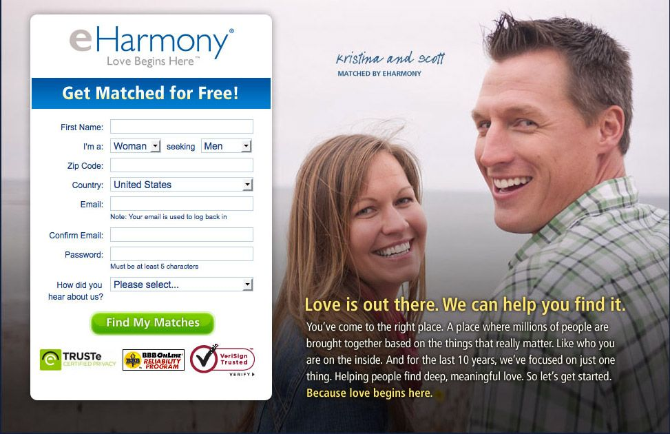 Eharmony register