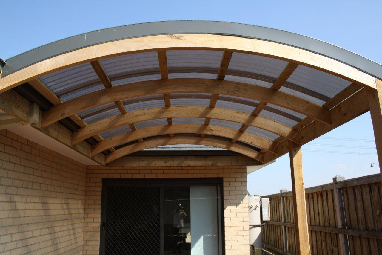 Curved Roof Pergola Backyard Stuff Roof Trusses