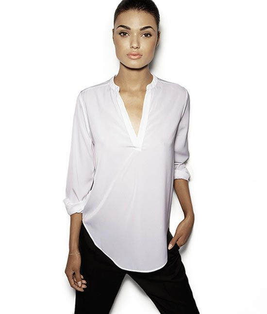 427331eaa estilos de camisetas para mujer - Buscar con Google Blusas Cuello Mao,  Blusa Con Cuello
