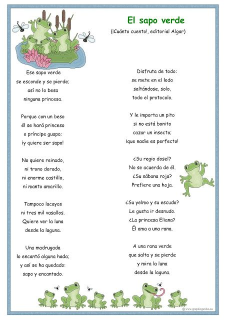 El sapo verde   Maternal   Pinterest