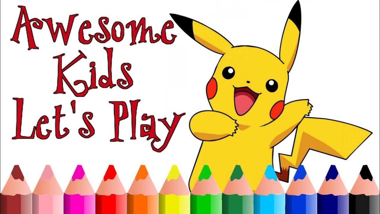Pokemon Coloring pages | Pikachu Learn Colors Pokémon ...