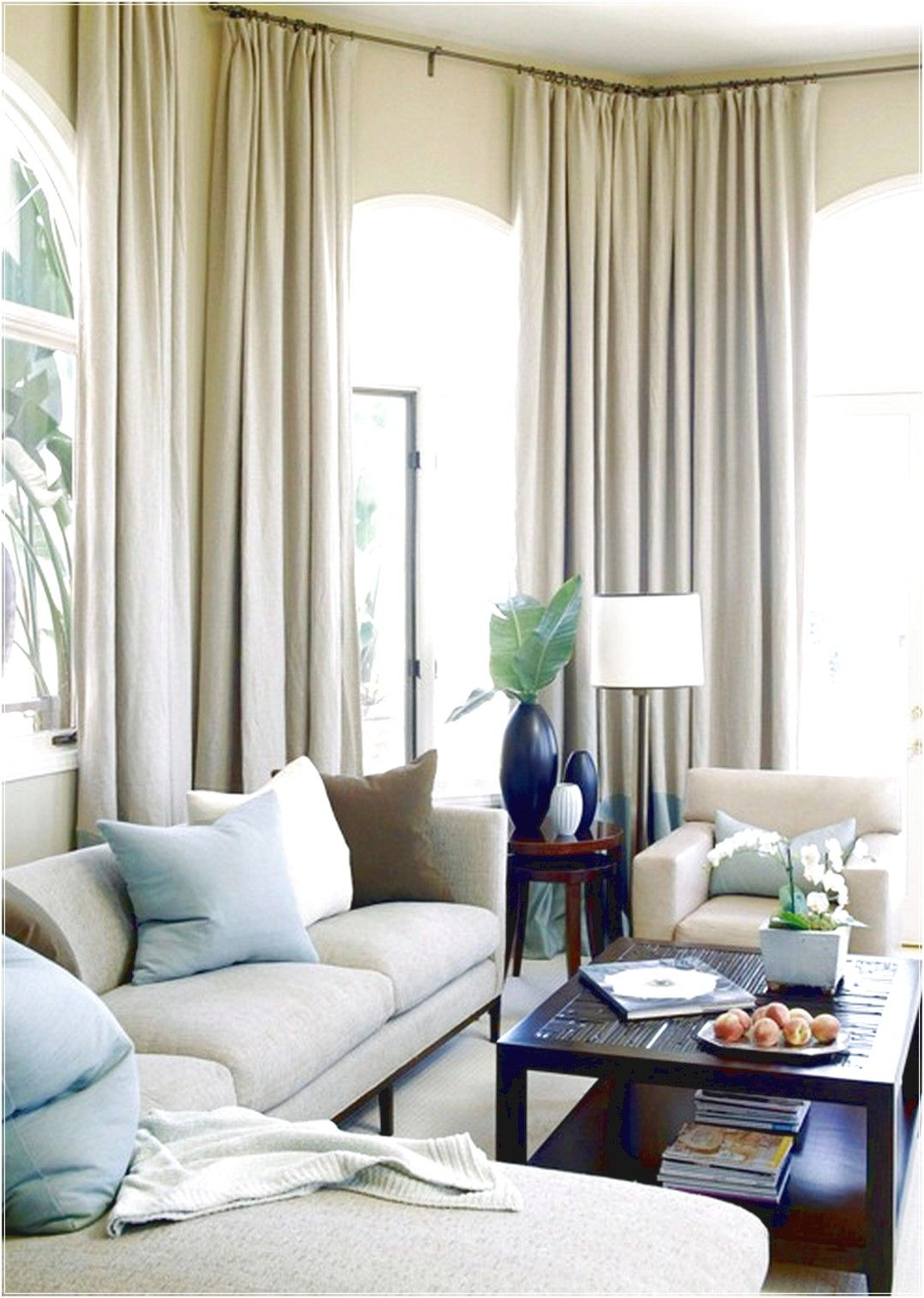elegant taupe paint color .. note drapery | Home - Living Room ...