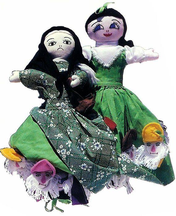 Snow White, 7 Dwarfs, Topsy Turvy, Doll Pattern, Doll