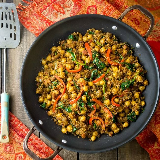 Indian Quinoa And Chickpea Stir Fry Recipe Clean Eating Recipes