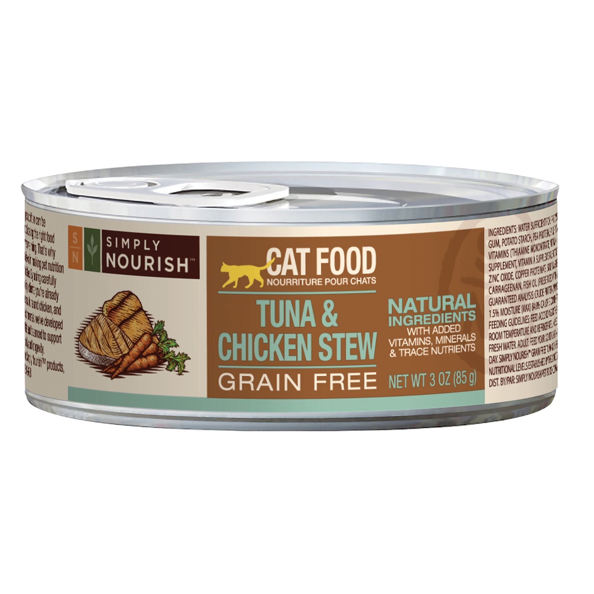Simply Nourish Cat Food Natural Grain Free Tuna Chicken