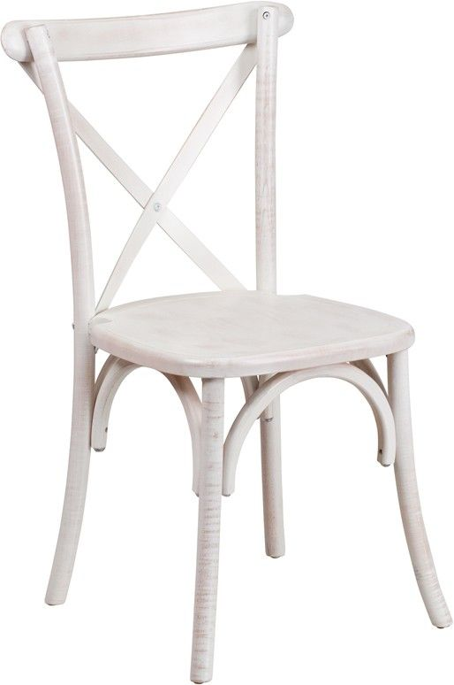 Flash Furniture XS-1-LME-GG Limewash Wood Cross Back Chair in Lime