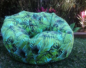 Outstanding Outdoor Bean Bag Palms Palm Leaves Adults Bean Bag Cover Caraccident5 Cool Chair Designs And Ideas Caraccident5Info