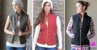 Quilted fur lined vest $32.99(reg.$64.99)