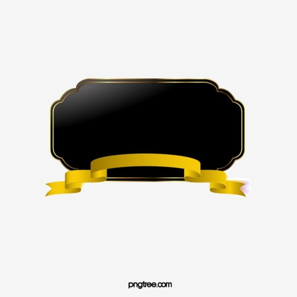 Hand Painted Black And Gold Ribbon Border Hand Painted Black Ribbon Png And Vector With Transparent Background For Free Download Ribbon Png Graphic Design Background Templates Gold Ribbons