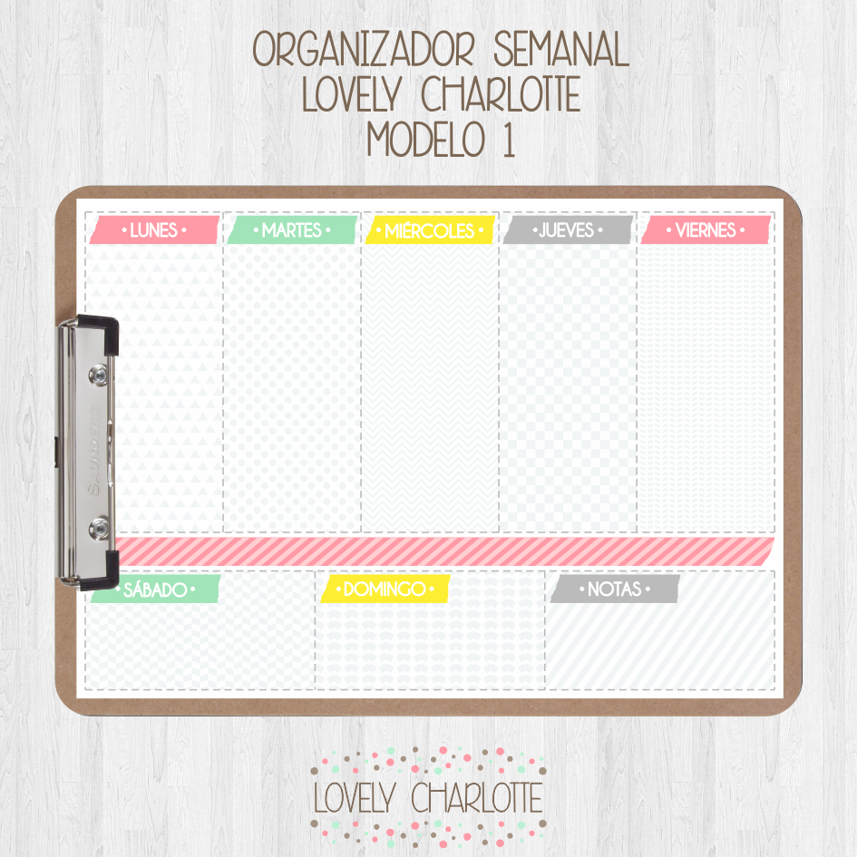 organizador-semanal-agenda-imprimible | Calendarios y agendas ...