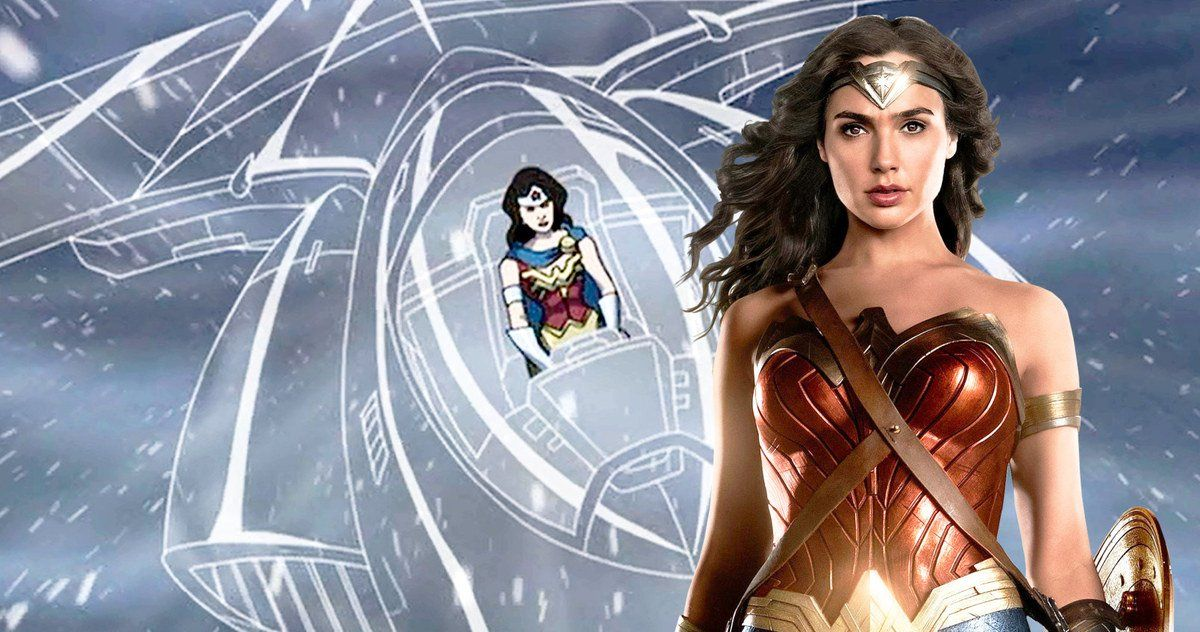 Wonder Woman 1984 Set Video Hints At The Invisible Jet Wonder Woman Video Setting Jet Set