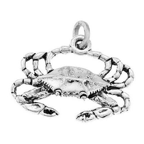 925 STERLING SILVER NEW ORLEANS BLUE CRAB CHARM//PENDANT