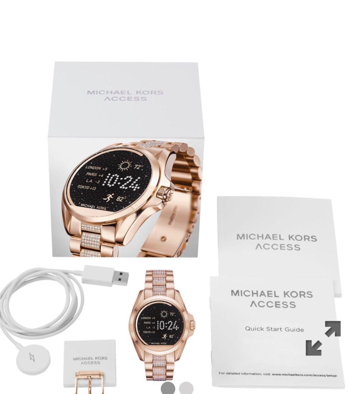 6b2c9c4284dc Brand New MK smart watch rose gold for women Michael Kors Smartwatch MKT5018