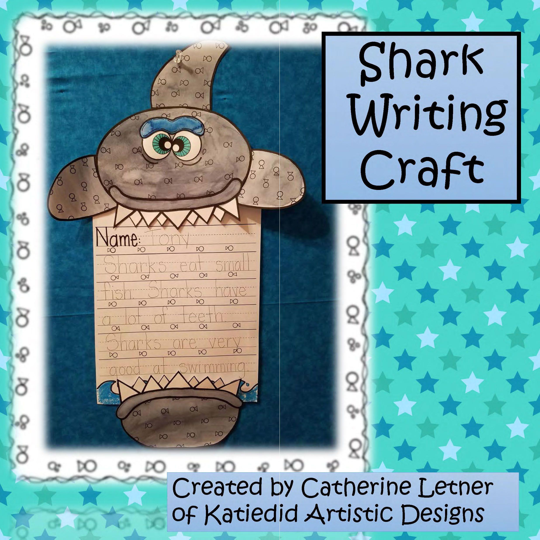 Shark Writing Craft Ocean Craft And Writing Activity