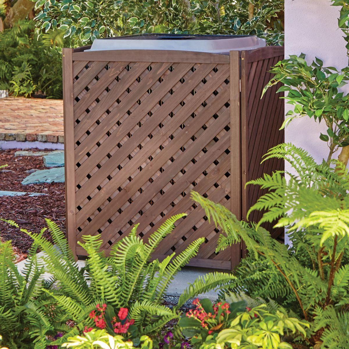 Wood Lattice Air Conditioner Screen Air conditioner