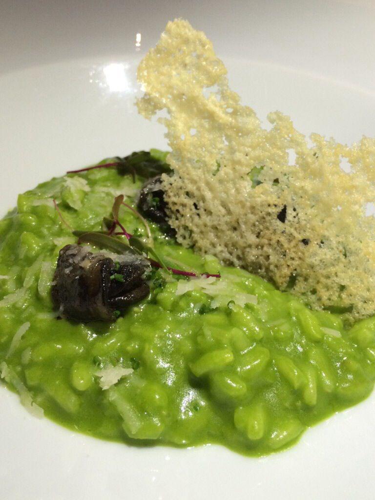Risotto verde con escargots de Eloise #mexico   Comiendo ...