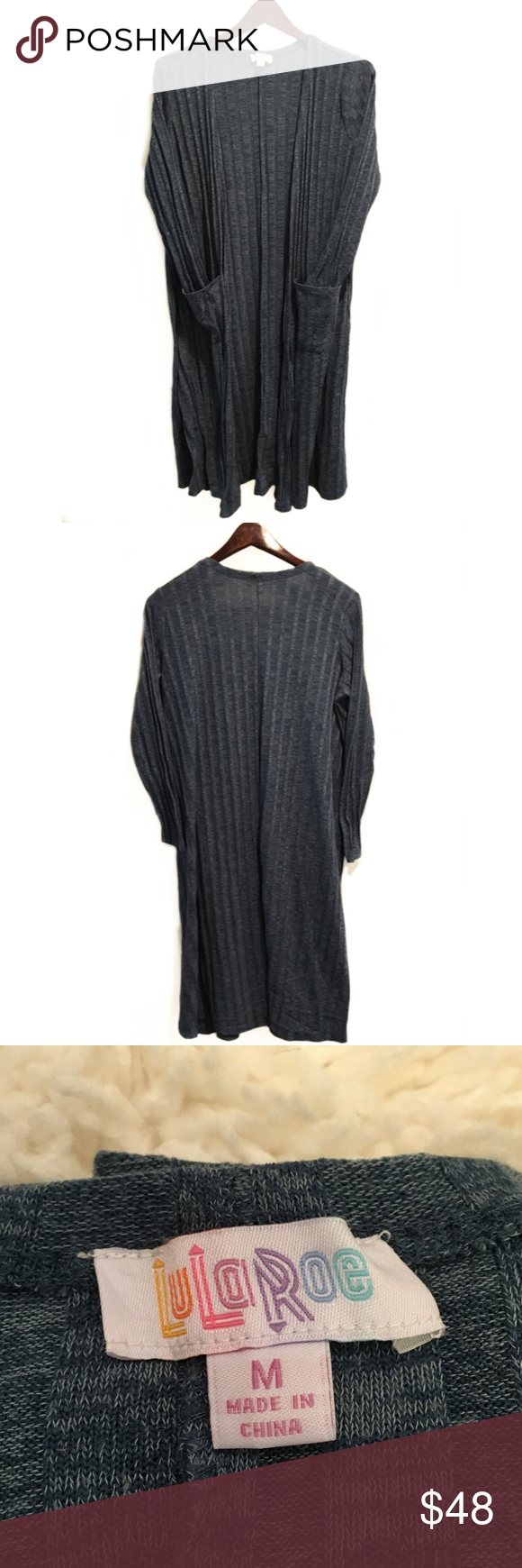 LuLaRoe Sarah Navy Blue Ribbed Duster Cardigan | Dusters, Cold ...