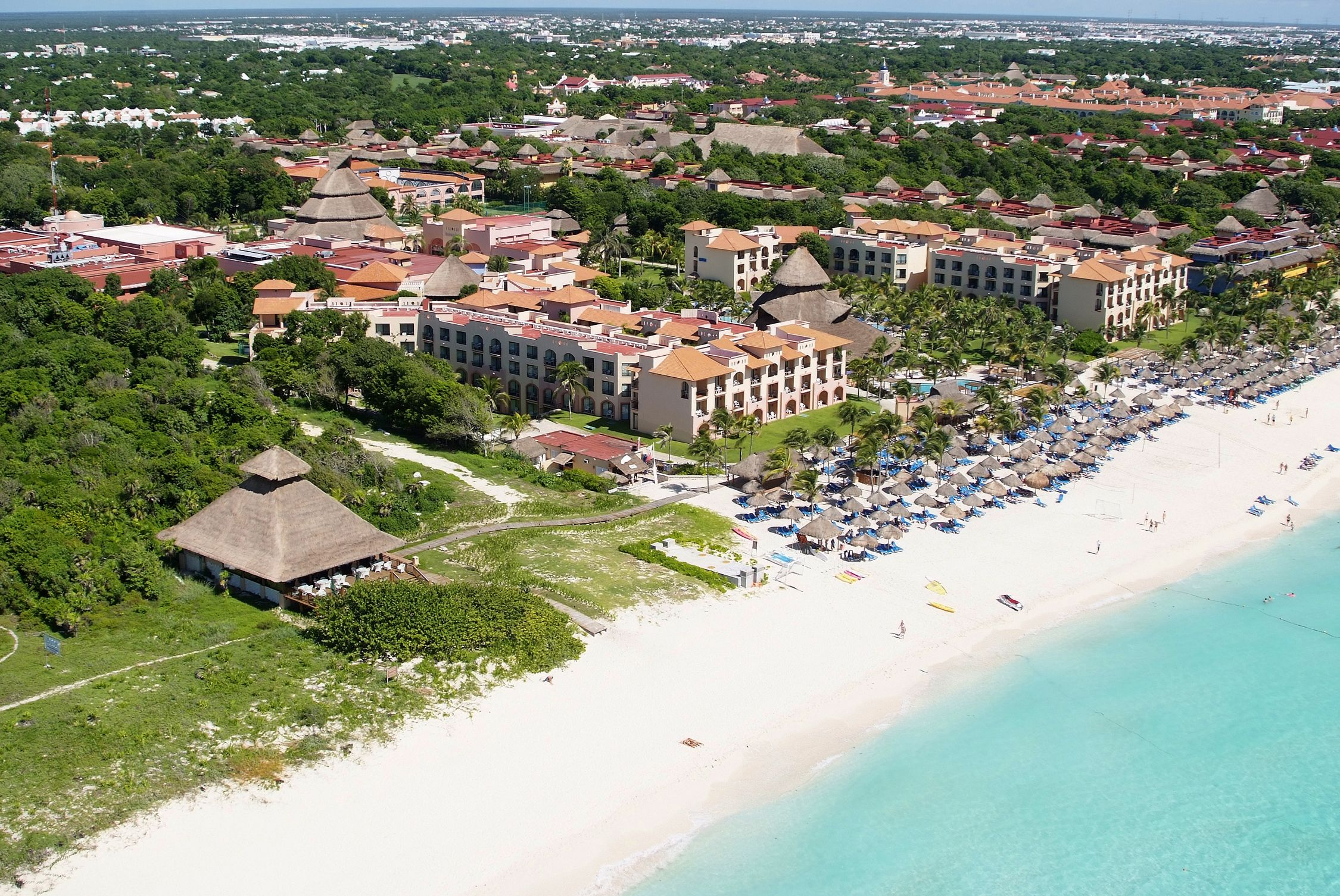 Sandos Playacar Aerial View of the Resort  All inclusive