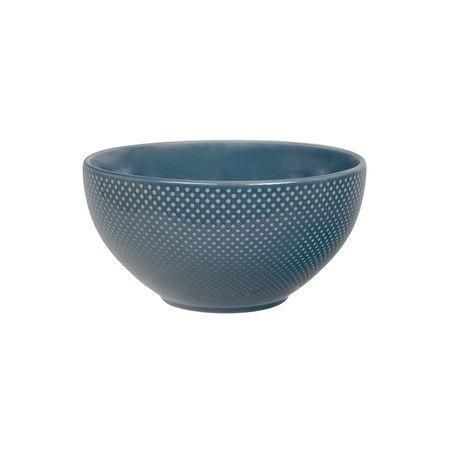 Tokyo Design Studio Textured Dot Cereal Bowl Indigo